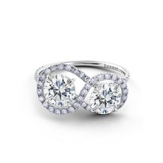 Danhov Diamond Infinity Engagement Ring