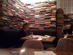 Books everywhere - at The Swan and Edgar Pub in London > http://www.whataplan.com