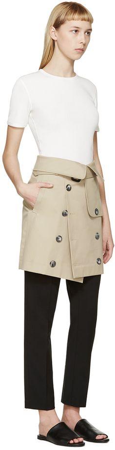 Each x Other: Khaki Robert Montgomery Edition Trench Miniskirt   SSENSE