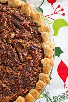 Pecan Pie recipe PLUS loads of other Christmas food, ie. sugar cookie bars, colored/flavored popcorn, and more.