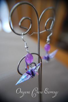 Origami Crane Earrings Fashion Accessories, Fashion Jewelry, Crane, Origami, Jewellery, Personalized Items, Facebook, My Style, Earrings