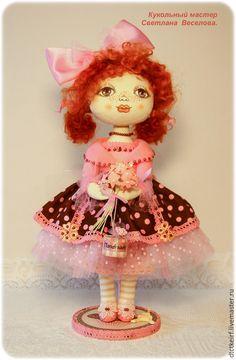 Купить авторская кукла ФРАНЦУЖЕНКА - розовый, авторская кукла, текстильная кукла, коллекционная кукла
