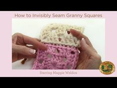 How to Invisibly Seam Granny Squares - YouTube -- Posting this just so I can find it if someone needs it. This is not my preferred method. LL