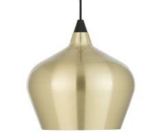 Erleuchten Sie Ihr Zuhause mit Pendelleuchte COHEN. Die geschwungene Form des Lampenschirms sorgt für angenehme Beleuchtung. Hängen Sie COHEN in glänzenden Messingfarben über Ihren Esstisch und lassen Sie die Leuchte ihre Wirkung entfalten.