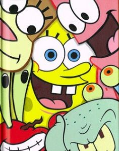 Each of the Main Characters in SpongeBob SquarePants Was Inspired by One of the Seven Deadly Sins - Shocking Facts You Never Knew Cartoon Wallpaper Iphone, Cute Disney Wallpaper, Cute Cartoon Wallpapers, Cute Wallpaper Backgrounds, Aesthetic Iphone Wallpaper, Cute Canvas Paintings, Mini Canvas Art, Spongebob Drawings, Disney Drawings