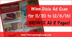 Who is ready to start working on their Winn Dixie Shopping List? Click the Picture below to BROWSE all 8 Pages of the Actual 11/30 to 12/6/16 Winn-Dixie Ad ► http://www.thecouponingcouple.com/winn-dixie-ad-scan-for-11-30-to-12-6-16/  Want us to Post these EARLY Advanced Ad Scans Every Week? If so leave a comment below and let us know (a SHARE would be appreciated too)!  #Coupons #Couponing #CouponCommunity  Visit us at http://www.thecouponingcouple.com for more great