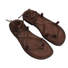 Sandalo stringato marrone da uomo n. 40