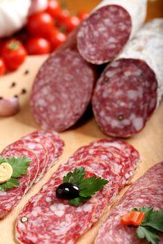 Salam italian, salam crud uscat Carne, Meat, Food, Eten, Meals, Diet