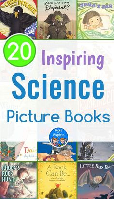 Inspiring science picture books - an annotated children's book list of high quality fiction and narrative nonfiction stories on a wide range of science topics. via pictures Inspiring Science Picture Books Science Topics, Science Books, Science Activities, Preschool Science, Elementary Science, Science Education, Science Projects, Science Fiction, Preschool At Home