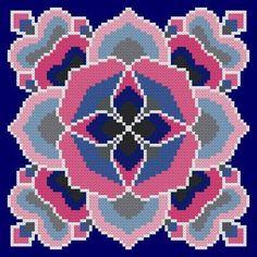 Intrigue cross stitch pattern.