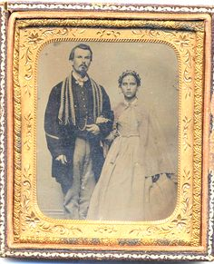 Jewish Soldiers In The American Civil War, A Large Number Fought For The Confederacy- Brother Against Brother, Jew Against Jew Photo: Union Soldier And Bride One academic estimate was that at least...