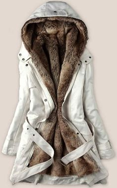 Winter coat with faux fur lining