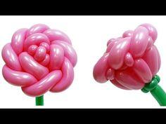 Большая роза из воздушных шаров - YouTube