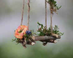 Garten-Fee Swing Handarbeit von Olive von OliveNatureFolklore