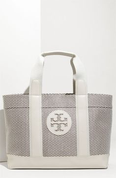 86ca84d4c5e Tory Burch Patterned Synthetic Straw Beach Tote