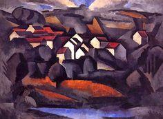 Roger de la Fresnaye (1885-1925)  Landscape at Ferte-Sous Jouarre, Final Version  1911