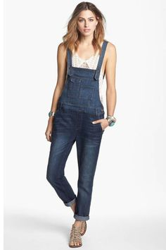 The Overalls- I am so happy this style has made a comeback.  Overalls are generation friendly from toddler to grandparents.  Pair them with a leather bomber jacket for a great look.