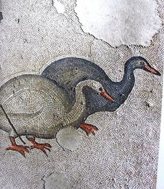 1. Fragments of mosaic floor of Constantinople's Great Palace (Age of Justinian I) 6th century C.E., Istanbul