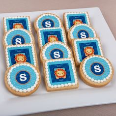 #Lion Boy - Personalized Baby Shower Cookies