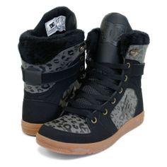 093b0fbba9ea DC STRATTON WOMENS HI TOP SHOES BLACK   OG GREY Top Shoes