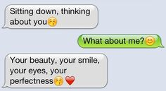 Thoughtful texts are the best.