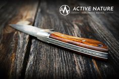 ACTIVE NATURE - Handmade Knives - Model RS I AN made from Damasteel and Desert Ironwood Handmade Knives, Nature, Model, The Great Outdoors, Models, Modeling, Mother Nature