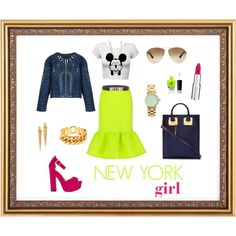 """NEW YORK girl"" by lenkafen on Polyvore"