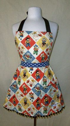 Howdy Partner Apron by domesticdoll on Etsy, $35.00
