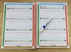 Cahier d'écriture cursive 7 mms Montessori, Notebook, Bullet Journal, School, Boutique, Cycle 2, French Immersion, Grade 2, Kids
