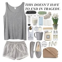 """This Doesn't Gave To End in Tragedy"" by faionacobb ❤ liked on Polyvore featuring Monki, H&M, UGG Australia, A.P.C., Vietri, Laura Mercier, Urbanears, Le Labo, Jack Wills and philosophy"