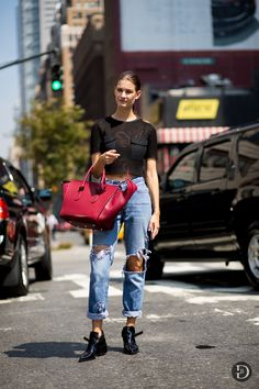 Ophelie Guillermand at New York SS15 Day 3
