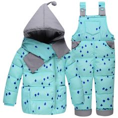 >> Click to Buy << Baby Girls Clothes 2017 Kids Ski Suit Overalls Baby Girls Boys Down Coat Warm Snowsuits Children Outwears Jackets+bib Pants 2pcs #Affiliate