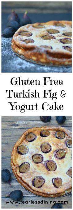 Gluten Free Turkish Fig and Yogurt Cake  http://www.fearlessdining.com