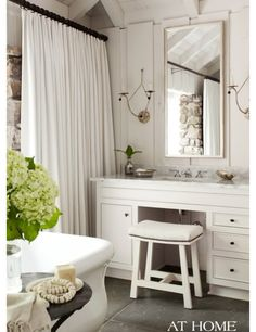making room for a vanity in bathroom-place to sit down