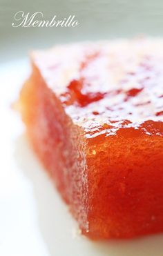 Membrillo (Quince Paste) ~ Dulce de Membrillo recipe, a popular Spanish paste made from quince and served with Manchego cheese. Quince Recipes, Jam Recipes, Dessert Recipes, Cooking Recipes, Gourmet Desserts, Plated Desserts, Quince Paste Recipe, Sweets, Canning Recipes