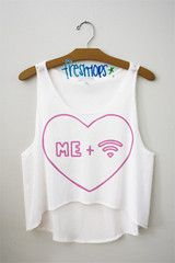 This is one of my favorites on fresh-tops.com: Me + wifi Crop top
