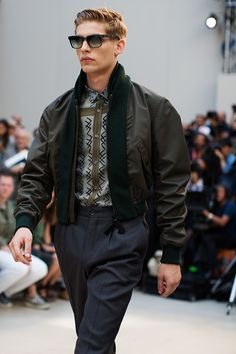 i would like to rock the hell out of this jacket!!!  burberry RTW S/S 2013