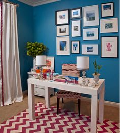 Home office confortável com personalidade