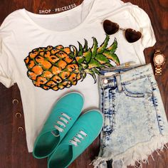 Pineapple Crop Top  #ShopPriceless #Tops
