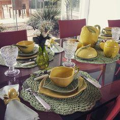 Mesa Cafe da Manha... linha Limao Siciliano...sou apaixonada!!