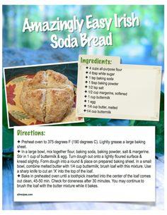 Amazingly Easy Irish Soda Bread  http://www.sandywintersite.com