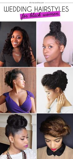12 wedding hairstyles we love for women with natural hair. #Wedding #Hairstyles