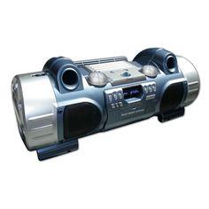 Boombox Radio/CD/MP3/USB (Argento e Blu) - Da Bigben Interactive. Ulteriori informazioni qui: http://www.bigbeninteractive.it/produit/produit/id/6672
