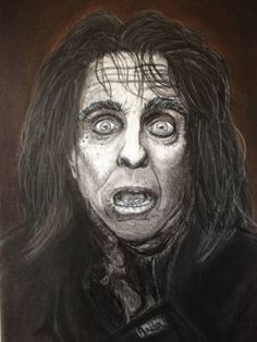 """Saatchi Art is pleased to offer the drawing, """"Alice Cooper,"""" by Anita Csernak. Original Drawing: Pencil on Paper. Size is 0 H x 0 W x 0 in. Alice Cooper, Saatchi Art, Portraits, Art Prints, Drawings, Artist, Painting, Products, Sketches"""