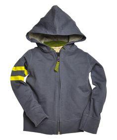 Burts Bees Baby Blue Smoke Organic Zip-Up Hoodie - Infant, Toddler & Boys | zulily