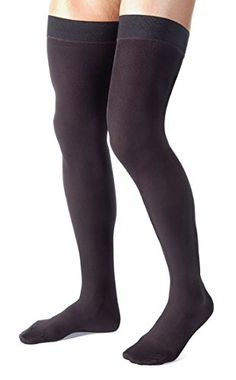 27b194b49f425 Absolute Support™ Compression Stockings for Men - Made in the USA - Thigh  High with Grip Top - Firm Graduated Compression