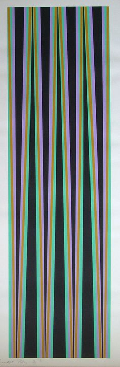 Elongated Triangles VI, United Kingdom, 1971, by Bridget Riley.
