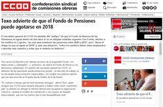 Toxo advierte de que el Fondo de Pensiones puede agotarse en 2018