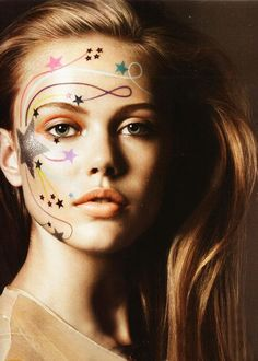 great fun for face painting add the stars in hair. Mardi Gras ideas