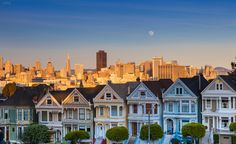 Alamo Square Moonrise - Managed to catch a sweet moonrise while shooting this iconic scene.  Thanks for looking!
